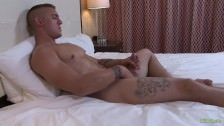 ActiveDuty Straight Military Jock Fondles His Cock