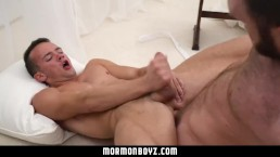 MormonBoyz-Sexy furry daddy rims and fucks bubble butt bottom deep