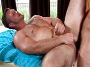 Shimmery jocks in hot massage
